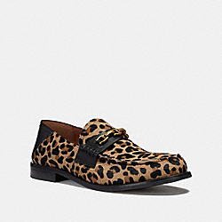 COACH FG2426 Putnam Loafer With Leopard Print NATURAL