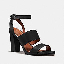 COACH FG2598 Kaye Sandal BLACK