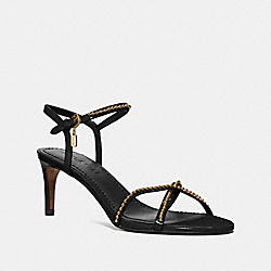 COACH FG2600 Leandra Ballchain Sandal BLACK