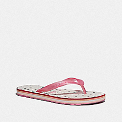 COACH FG2606 Tay Flip Flop With Minnie Mouse WHITE/PINK