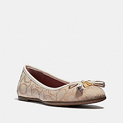 BENNI BALLET - FG2708 - LIGHT KHAKI/CHALK