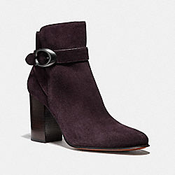 DELANEY SIGNATURE BUCKLE HEEL BOOTIE - FG2805 - OXBLOOD