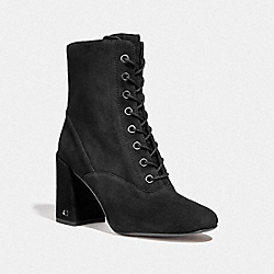 COACH FG2917 Edie Lace Up Bootie BLACK