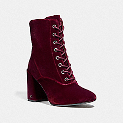 COACH FG2918 Edie Lace Up Bootie WINE