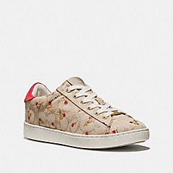 C126 WITH CHERRY PRINT - fg2973 - KHAKI/RED