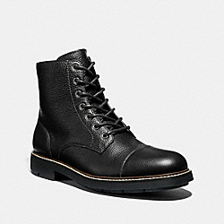 CAP TOE BOOT - FG2989 - BLACK