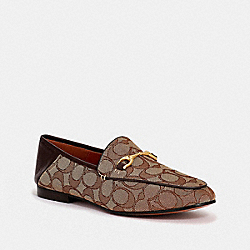 COACH FG3109 Haley Loafer KHAKI/MAHOGANY
