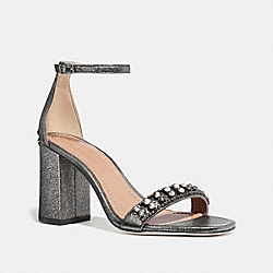 COACH FG3121 Maya Sandal With Studs GUNMETAL
