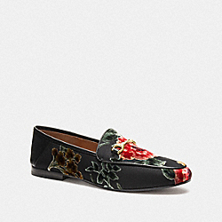 COACH FG3144 - HALEY LOAFER WITH FLORAL PRINT BLACK MULTI