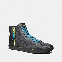 COACH FG3207 C204 High Top Sneaker CHARCOAL/BLACK