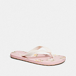 COACH FG3437 - ZAK FLIP FLOP WITH FLORAL PRINT CARNATION/CHALK