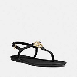 COACH FG3440 Jazmin Sandal BLACK