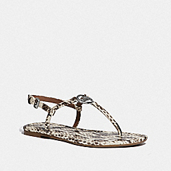 COACH FG3442 Jazmin Sandal NATURAL