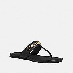 COACH FG3443 Jaclyn Sandal BLACK