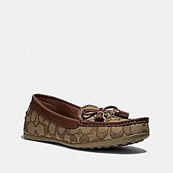 COACH FG3450 Greenwich Loafer KHAKI/SADDLE