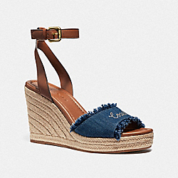 COACH FG3462 Kelley Wedge DENIM/SADDLE