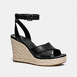 COACH FG3476 Kaelyn Wedge BLACK