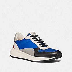COACH FG3510 Tech Runner In Colorblock BLUE MULTI