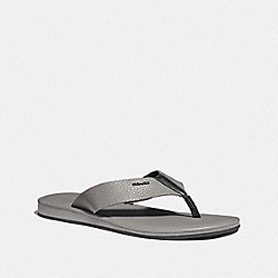 COACH FG3844 - ROCKAWAY FLIP FLOP HEATHER GREY