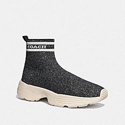 COACH FG4264 C203 Sock Sneaker GREY/SILVER
