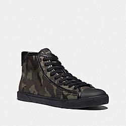 C207 HIGH TOP SNEAKER WITH CAMO PRINT - FG4397 - GREEN MULTI CAMO
