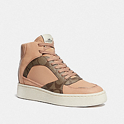 COACH FG4636 C230 High Top Sneaker KHAKI/BEECHWOOD