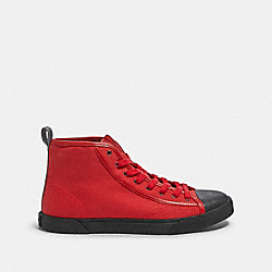COACH FG4672 - C207 HIGH TOP SNEAKER WITH COACH PATCH SPORT RED BLACK