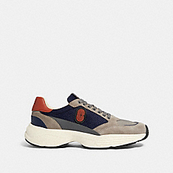 C152 TECH RUNNER WITH COACH PATCH - FG4684 - HEATHER GREY MULTI