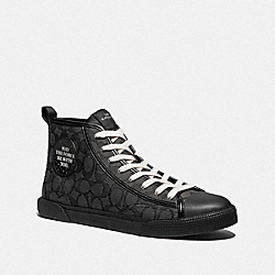 STAR WARS X COACH C207 HIGH TOP SNEAKER - FG4718 - CHARCOAL MULTI
