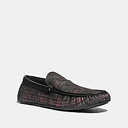 COACH FG4832 Slipper DARK GREY PLAID