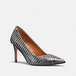 COACH G1229 Beadchain Pump In Snakeskin BLACK WHITE