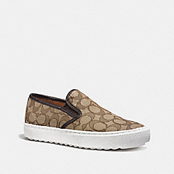 COACH G1242 C115 Slip On KHAKI/CHESTNUT