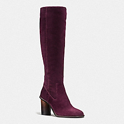 COACH G1357 Ombre Heel Boot OXBLOOD