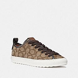 COACH G1904 C121 Low Top Sneaker KHAKI/CHESTNUT