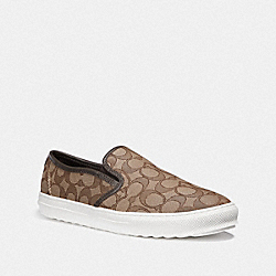 COACH G1909 - C115 SLIP ON KHAKI/CHESTNUT