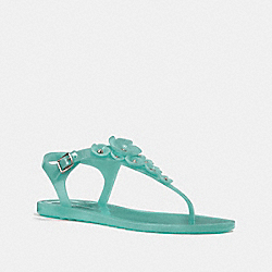 COACH G2070 Tea Rose Multi Jelly Sandal MARINE