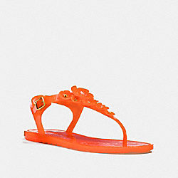 COACH G2071 Tea Rose Jelly Sandal MANDARIN