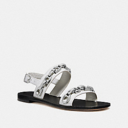COACH G2423 Eden Sandal OFF WHITE