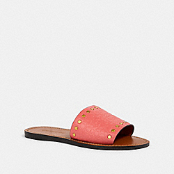 COACH G2735 Slide With Rivets BRIGHT CORAL