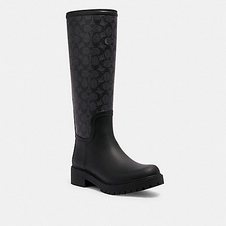 COACH G2860 SIGNATURE RAINBOOT CHARCOAL/BLACK