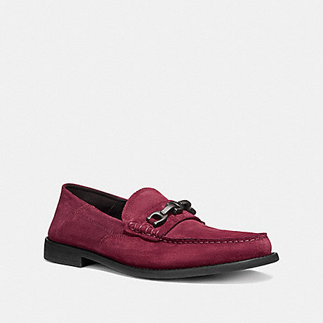 COACH G2920 CHAIN LOAFER CABERNET