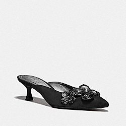 COACH G3170 - KAILEE MULE WITH PAILLETTES BLACK