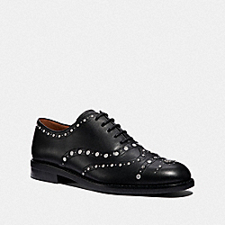 COACH G3240 - TEGAN OXFORD WITH STUDS BLACK