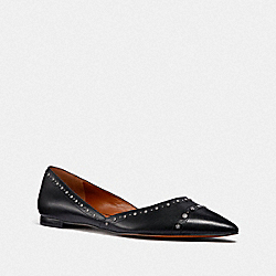 COACH G3242 Valintina Flat With Studs BLACK