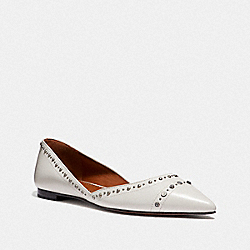 COACH G3242 Valintina Flat With Studs CHALK