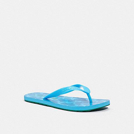COACH G3434 ZAK FLIP FLOP PARROT BLUE