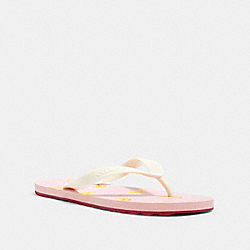 COACH G3437 - ZAK FLIP FLOP WITH FLORAL PRINT PINK/YELLOW