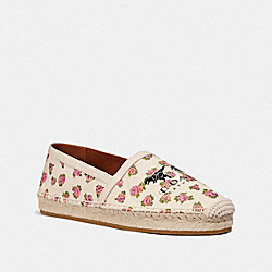 COACH G3560 Casey Espadrille With Mini Vintage Rose Print CHALK