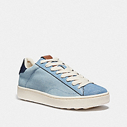 COACH G3603 C101 Low Top Sneaker LIGHT DENIM/DARK DENIM