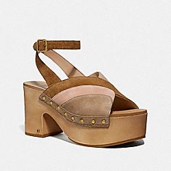 COACH G3608 Nettie Clog Sandal OAT/PALE BLUSH